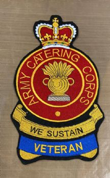 Army Catering Corps Embroidered Bikers Badge